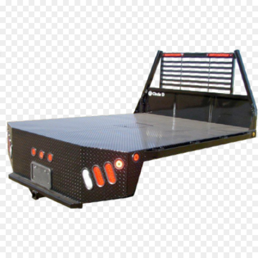 Pickup Truck Car Flatbed Trailer Bed Top View