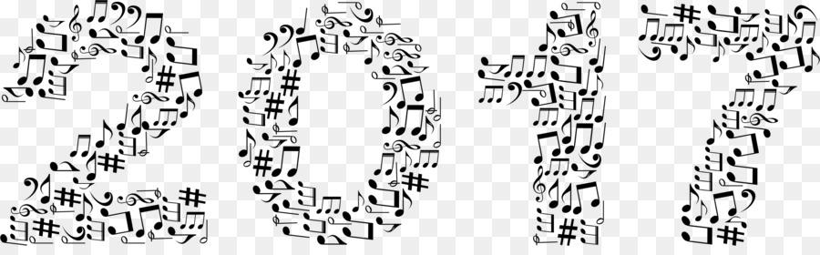 Note De Musique Noir Et Blanc Clip Art La Typographie