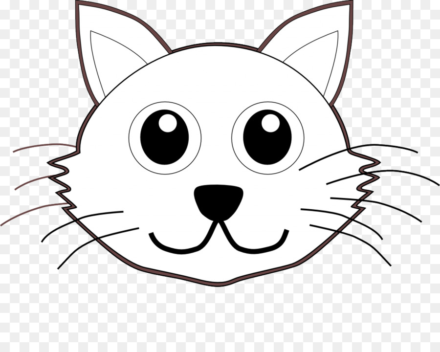 The cat in the hat kitten coloring book puppy cat head for Cat head coloring page