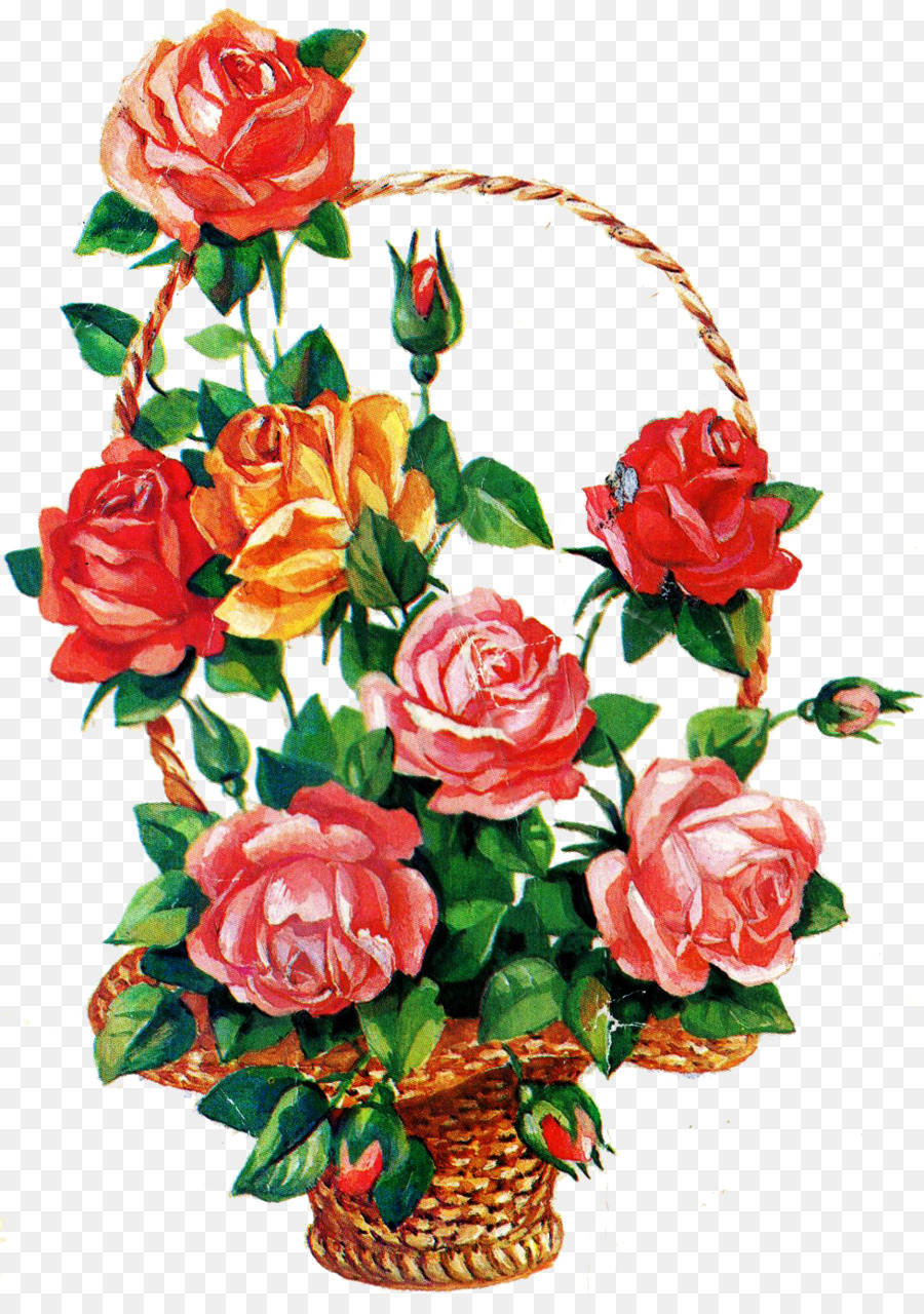 Flower Bouquet Birthday Garden Roses Ansichtkaart Rose Bouquet Png
