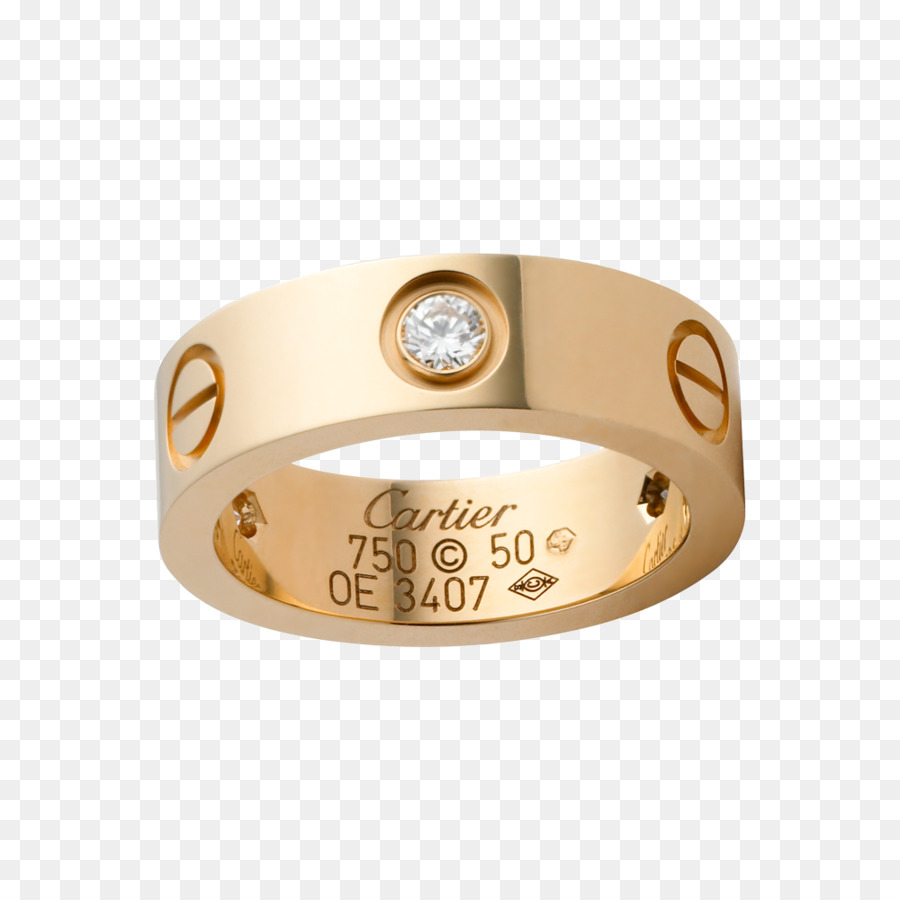 Cartier Ring Love Bracelet Diamond Colored Gold Hermes