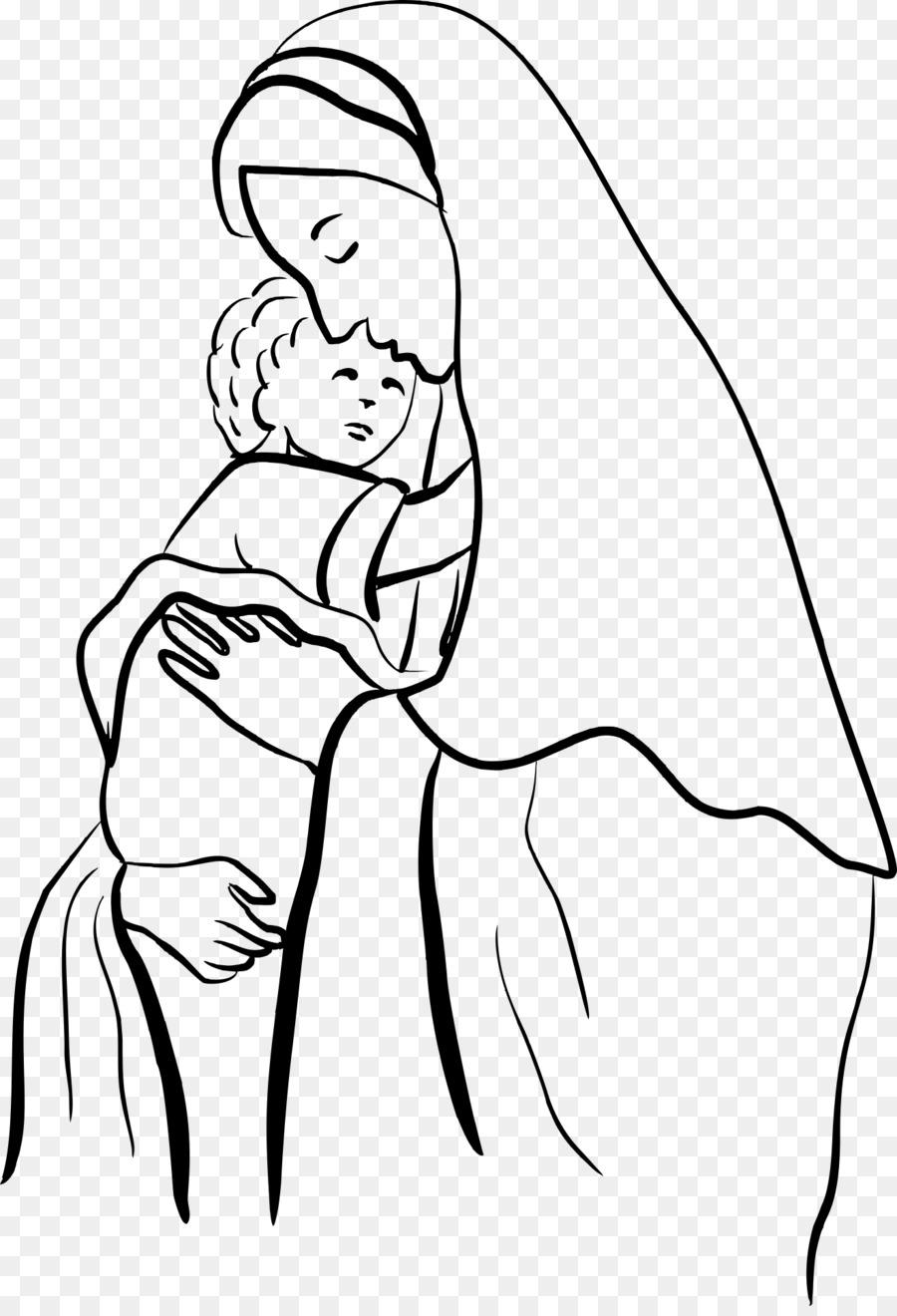 Gabriel Niño Jesús de la Madre para Colorear libro de la Natividad ...