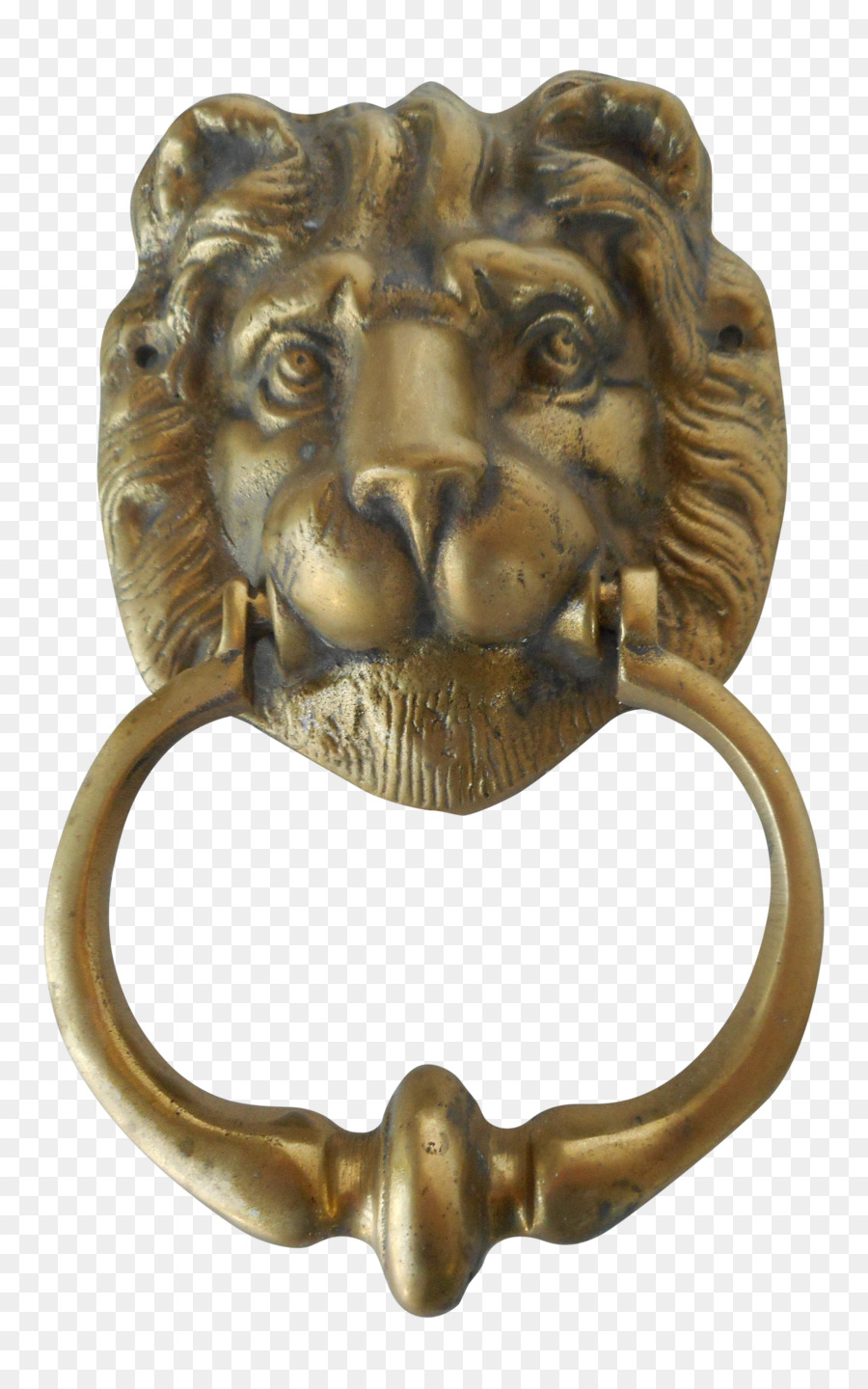 Door Knockers Lion Brass Bronze - lion head - Door Knockers Lion Brass Bronze - Lion Head Png Download - 2498*3990