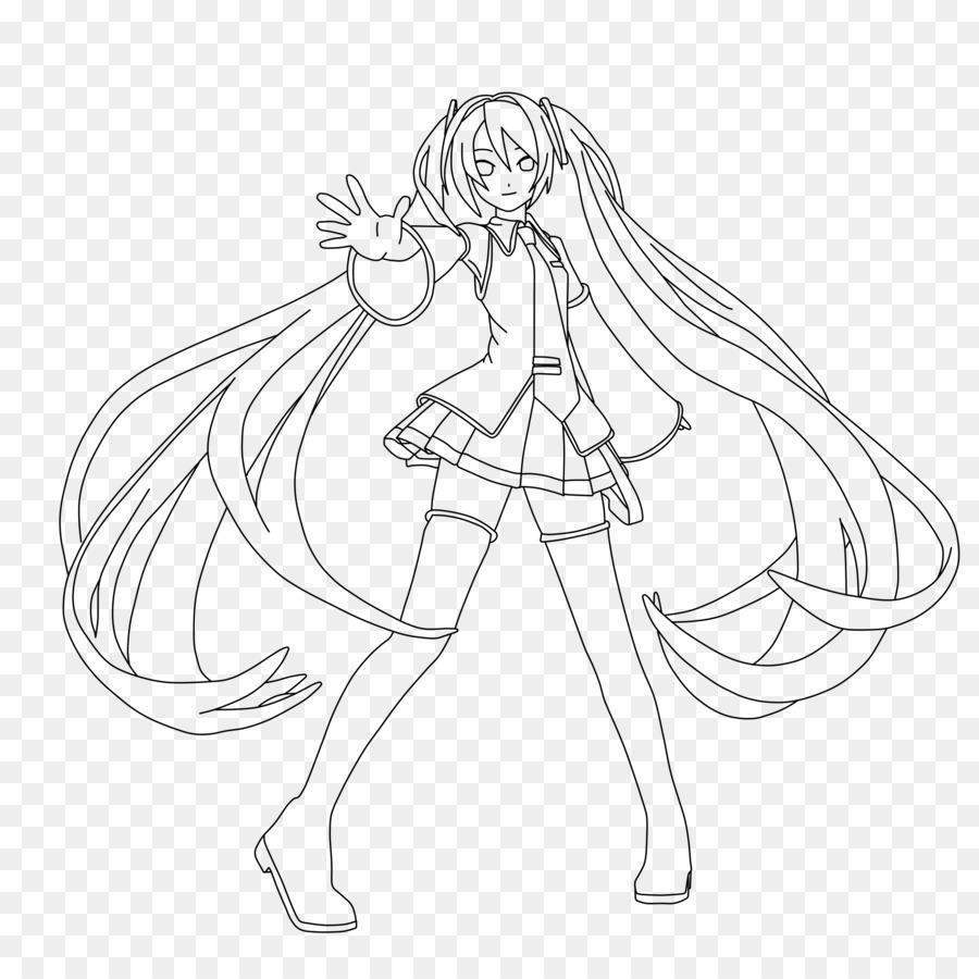 Hatsune Miku Vocaloid Dibujo para Colorear libro Megurine Luka ...
