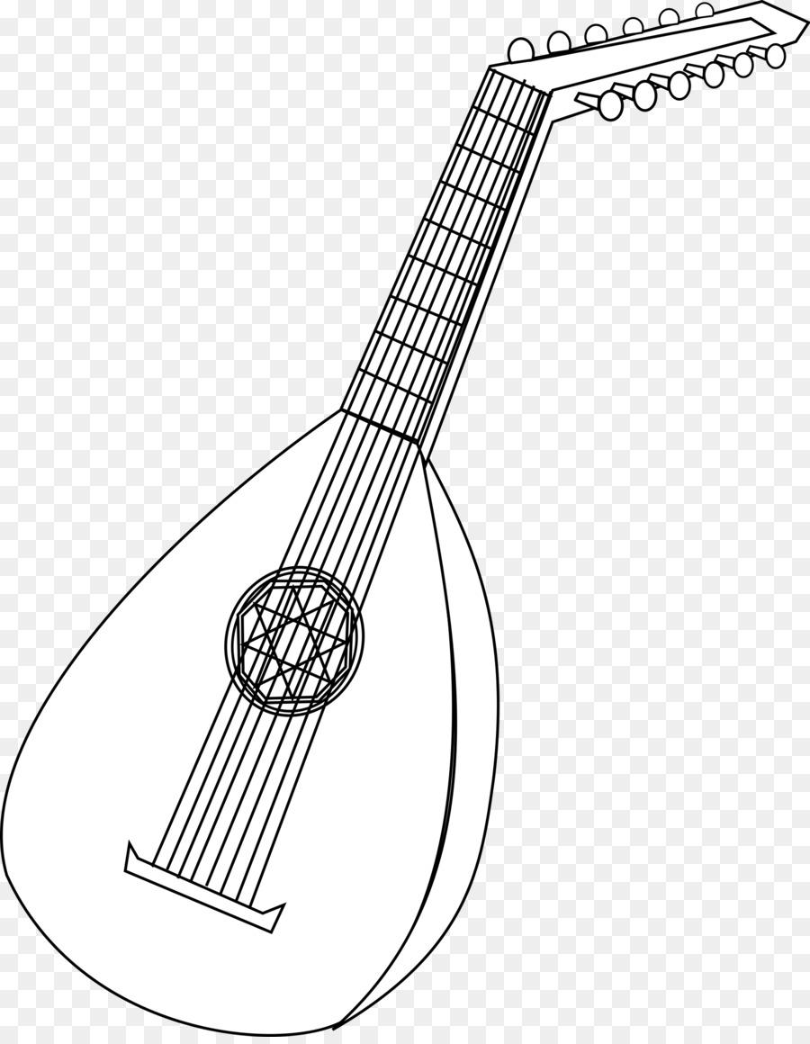 Libro de colorear para Laúd de los Instrumentos Musicales los ...