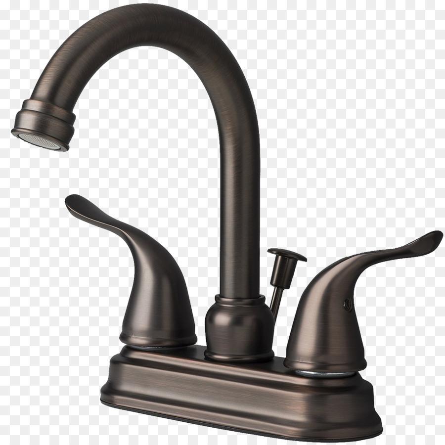 Tap Plumbing Fixtures Sink Brushed metal - faucet png download ...