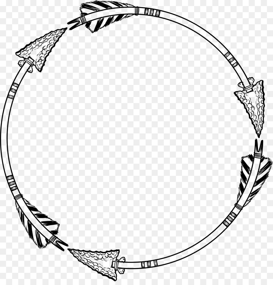 Picture Frames Arrow Clip art - circle frame png download - 2270 ...