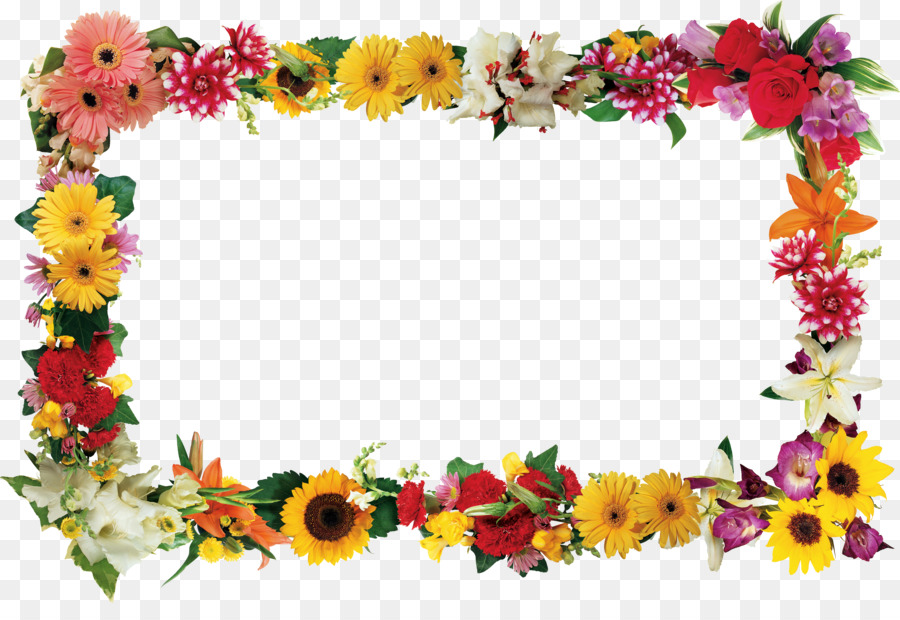 Flor de Marcos de Imagen de la Fotografía Clip art - Marco flores ...