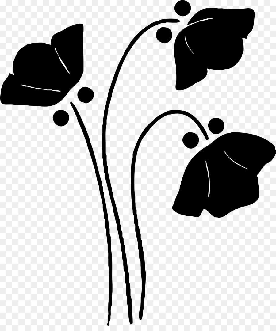 Flower black and white silhouette. Png download free transparent