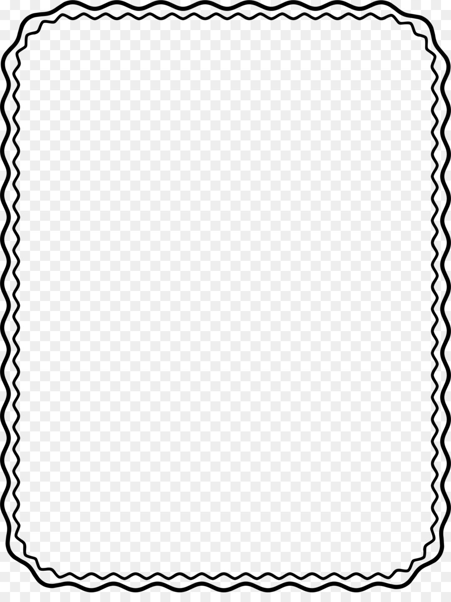 Picture Frames Black and white Clip art - boarder png download ...
