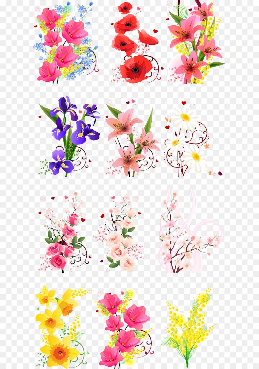 Flower Poster Sticker Spring Flower Png Download 6731280 Free