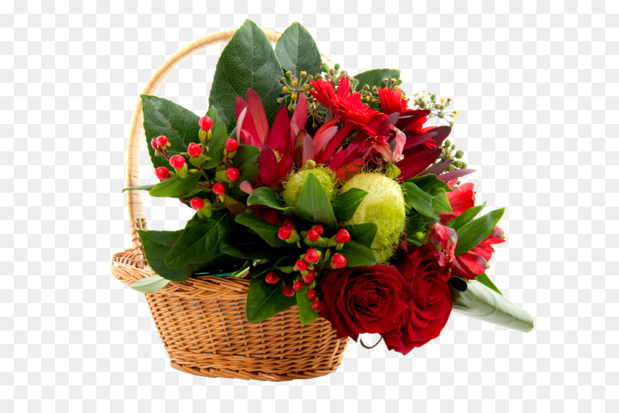 Cut flowers Christmas Flower bouquet Basket - BOUQUET FLOWER png ...