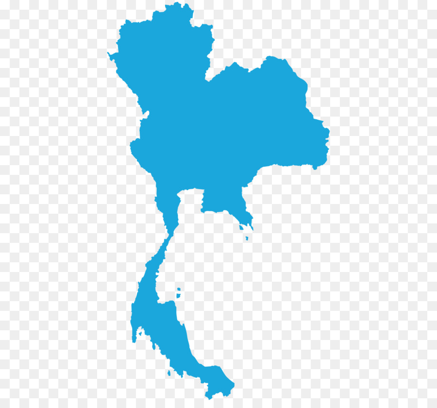 Thailand Vector Map Bangkok Png Download 1366 1254 Free