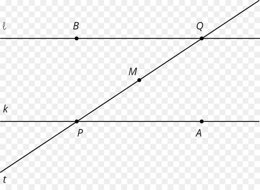 Interne Winkel Linie Parallel Transversal - Winkel png herunterladen ...