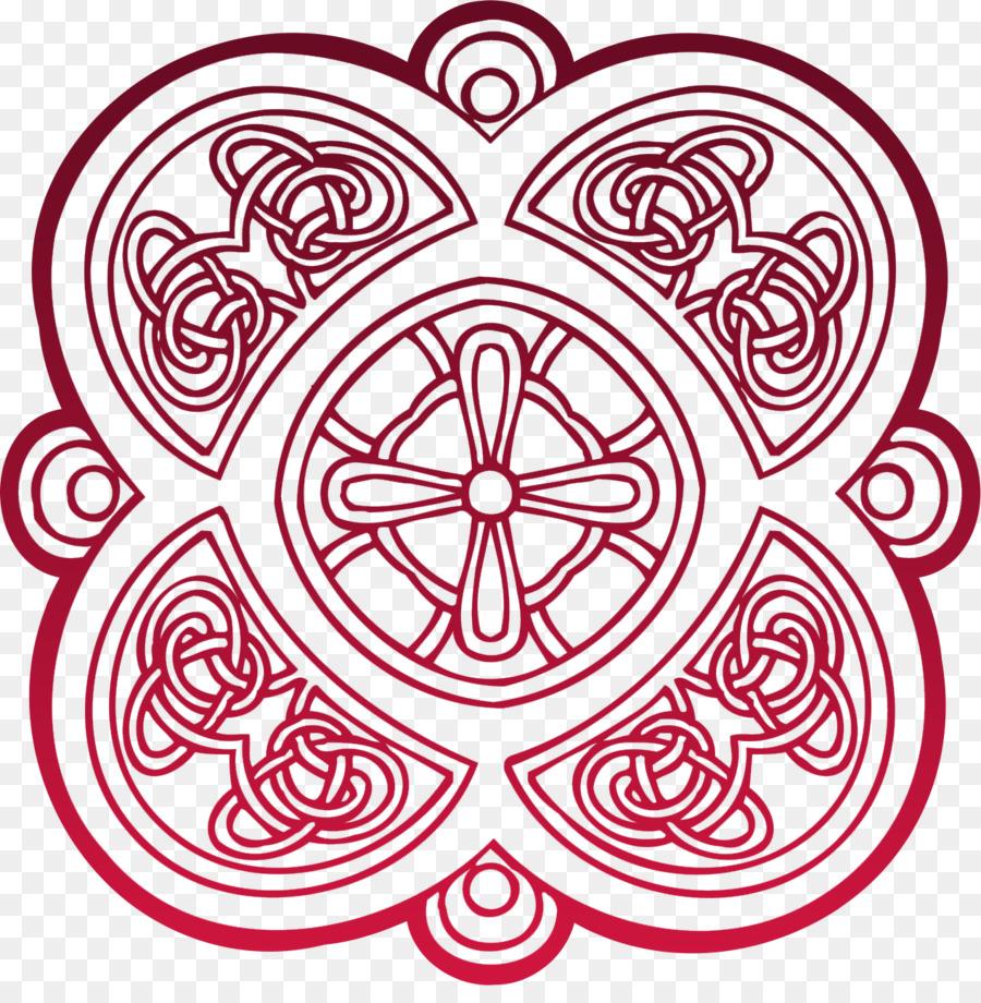 Libro para colorear de nudo Celta vidrieras de la cruz Celta - cruz ...