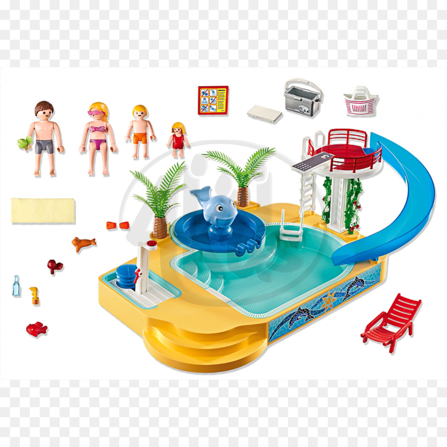 Playmobil Toy Playground Slide Swimming Pool Game   Water Slide