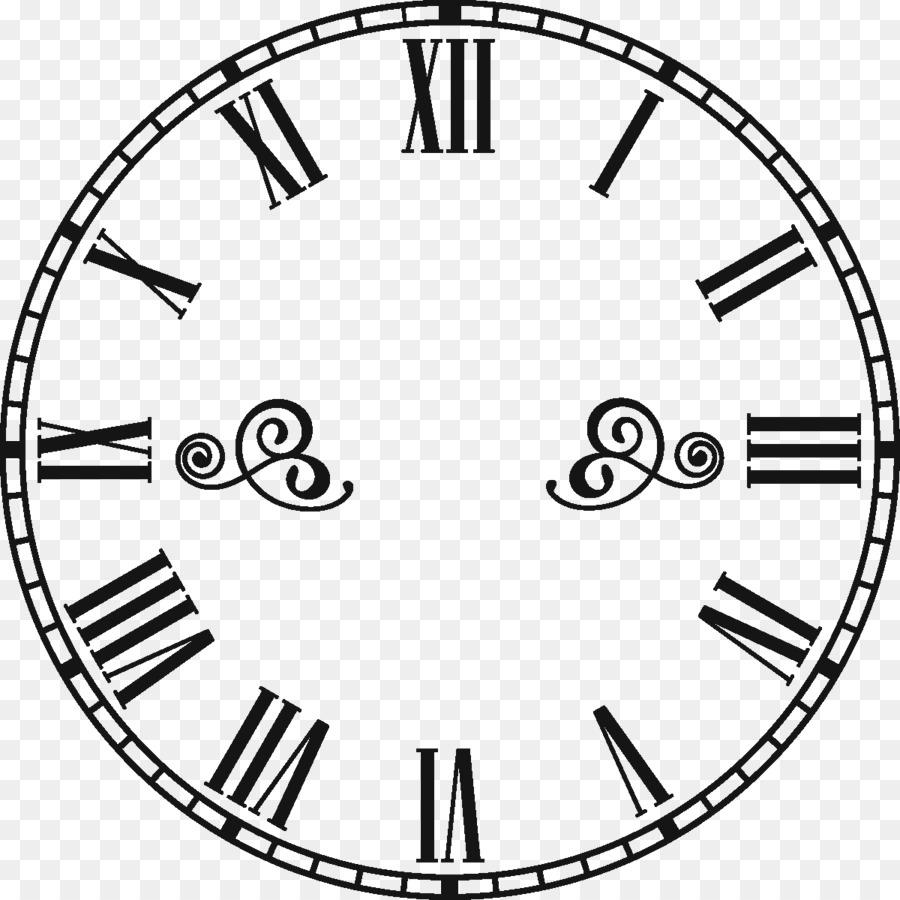 Clock Face Line Art png download - 1200*1200 - Free Transparent