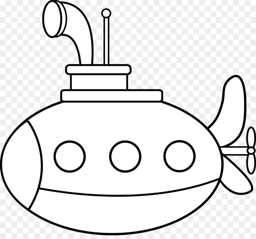 Coloring Book Submarine Drawing Clip Art