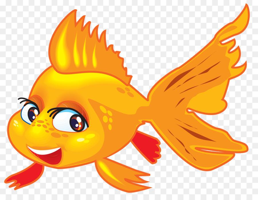 Los peces Veiltail de dibujos animados de Oro Clip art - camarones ...