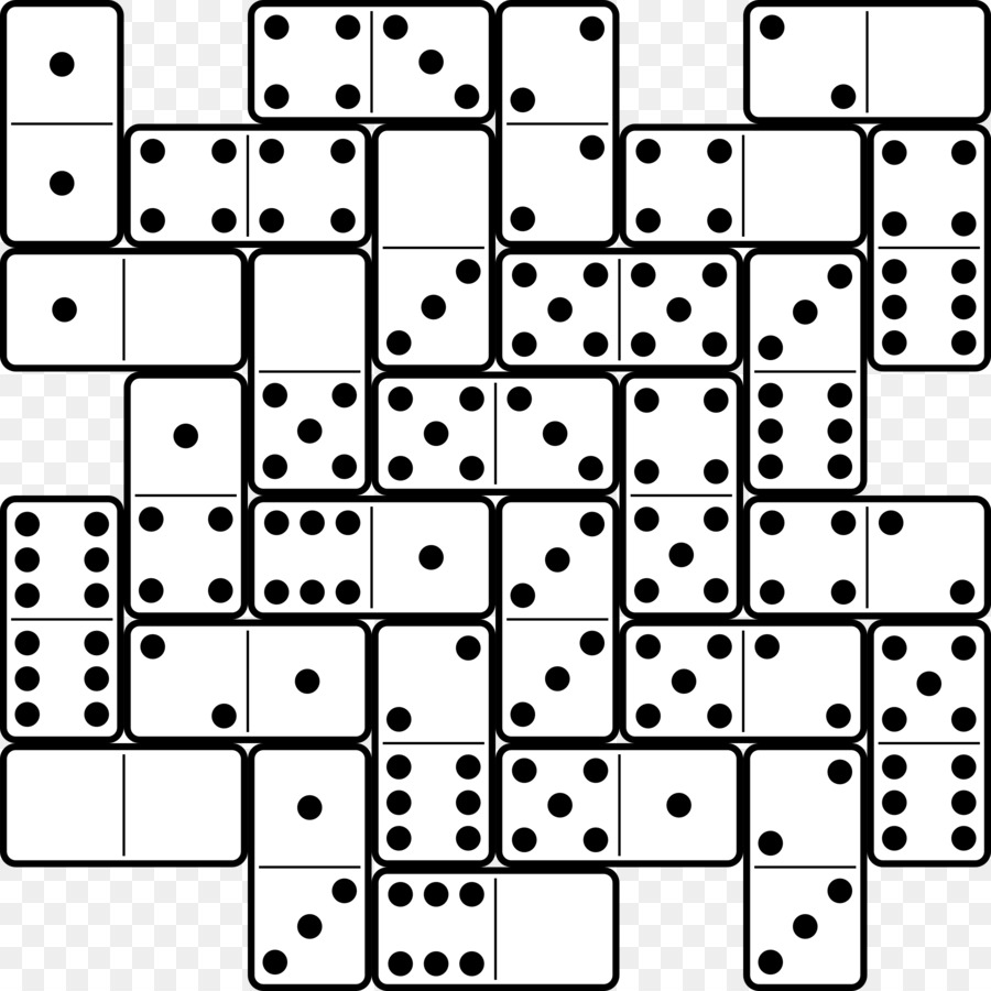 Dominoes Game Domino\'s Pizza Mexican Train Clip art - six png ...