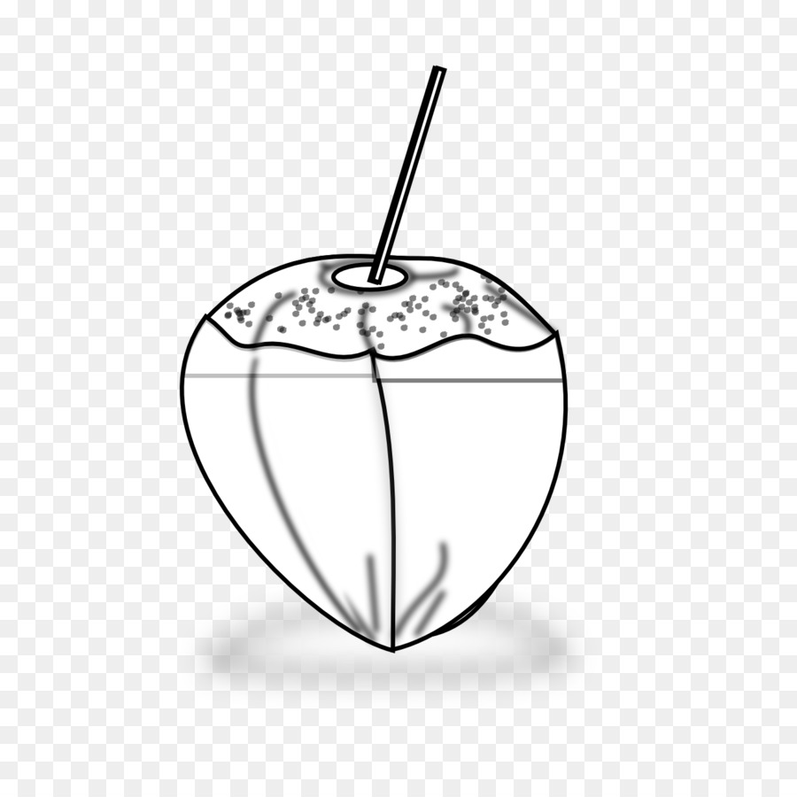 Black And White Drawing Coconut Clip Art