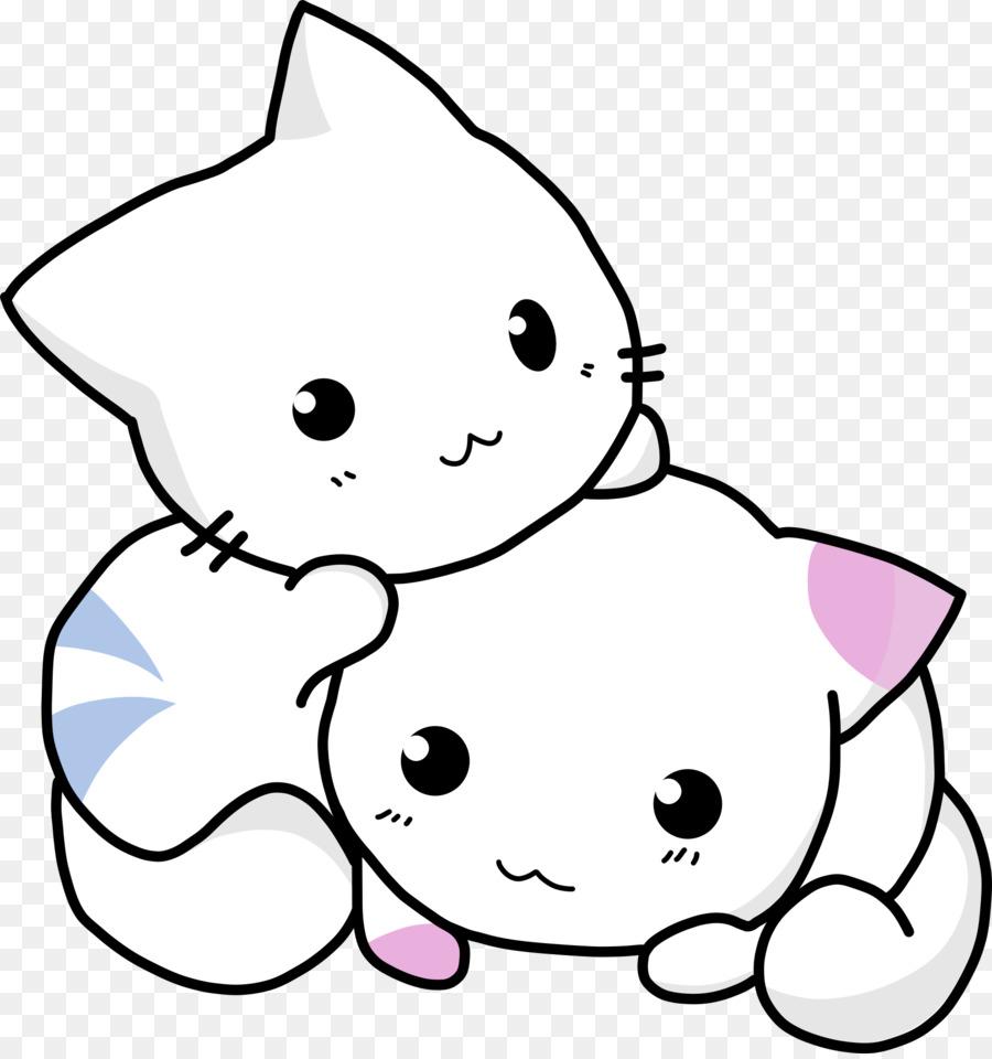 Kucing Mewarnai Buku Pusheen Dewasa Gambar Kucing Unduh Monokrom