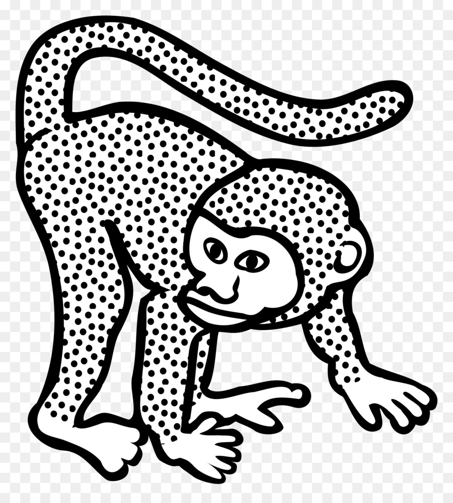 Line Art Drawing Monkey Clip Art   Monkey