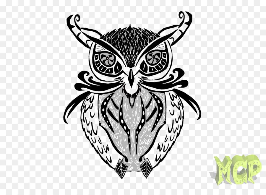 Chouette Tatouage Oiseau Art Dessin Les Hiboux Telechargement Png