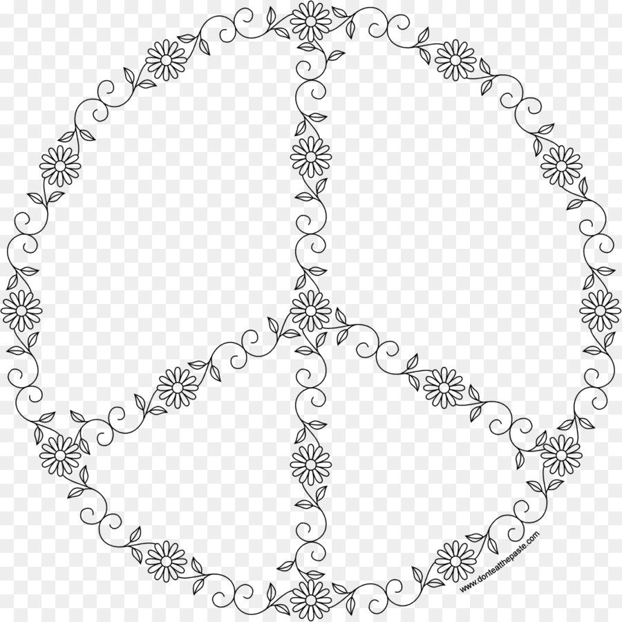 La paz símbolos libro para Colorear Mándalas - símbolo png dibujo ...