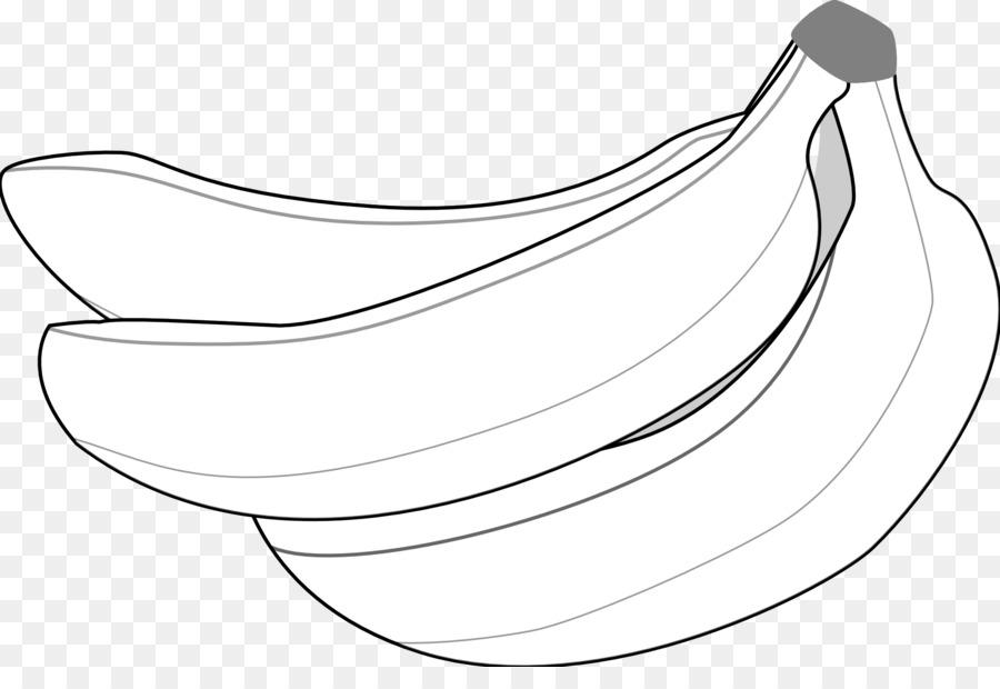 Plátano de diseño Gráfico Monocromo fotografía Clip art - banano ...