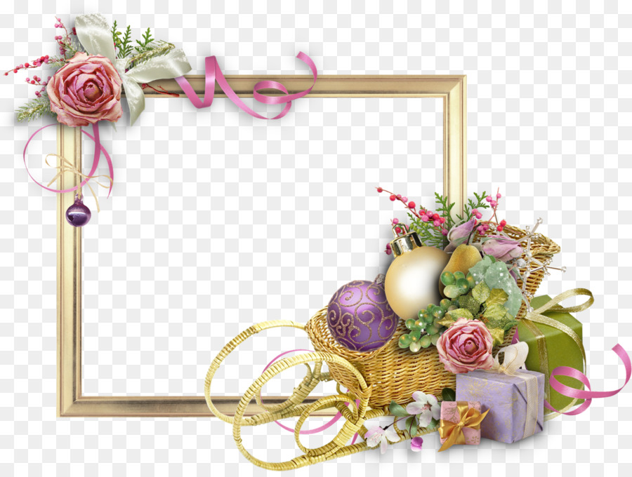 Picture Frames Flower New Year Floral design - birthday border png ...
