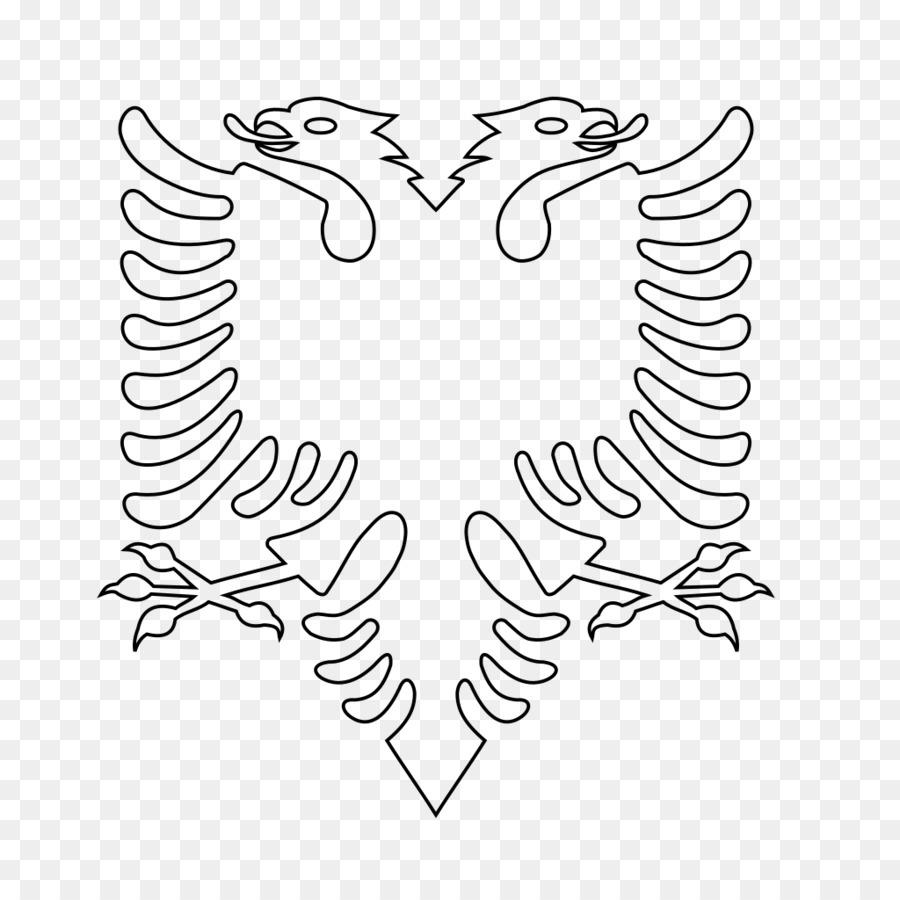 Bandera de Albania Escudo de armas de Albania Banderas del Mundo ...