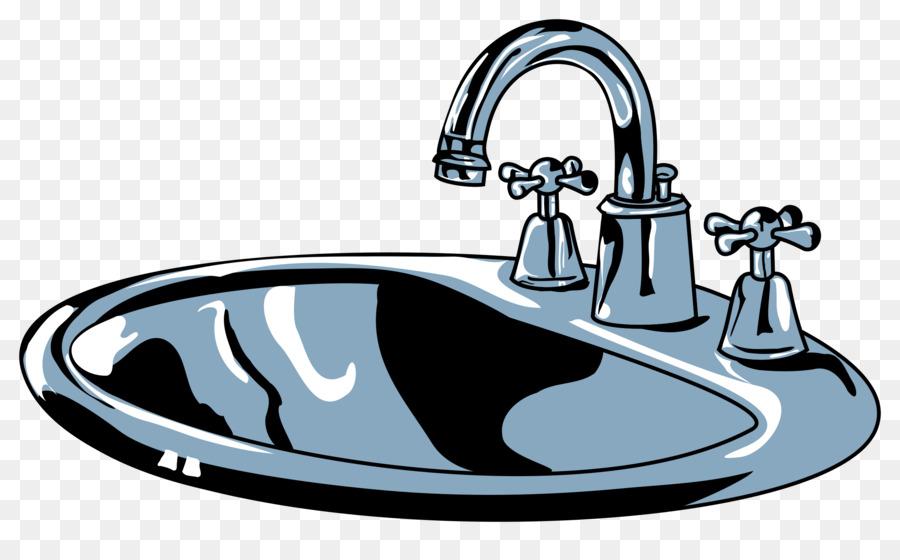 kitchen sink Tap Clip art - sink png download - 2400*1443 - Free ...