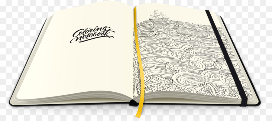 Hardcover Notebook Coloring Book Paper