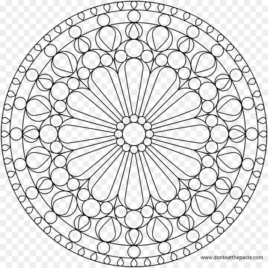 Gül Pencere Camı Boyama Kitabı Mandala Lekeli Pencere Png Indir