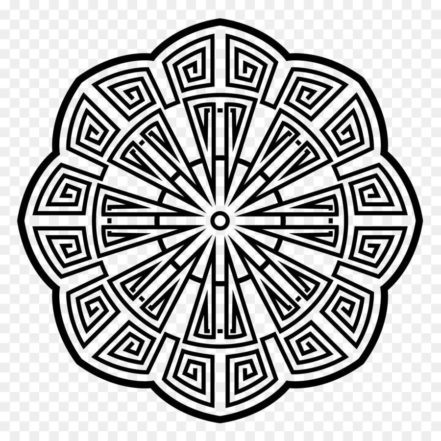 Libro para colorear en Línea de arte del Mandala en blanco y Negro ...