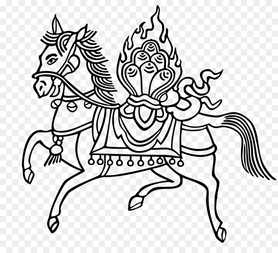 Tibetan Buddhism Wind Horse Prayer Flag Buddhism Png Download