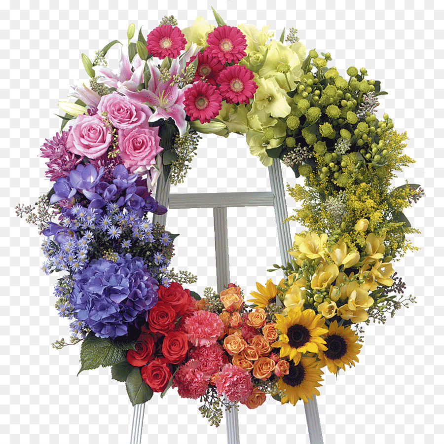 Floristry Flower Delivery Funeral Wreath Floral Png Download