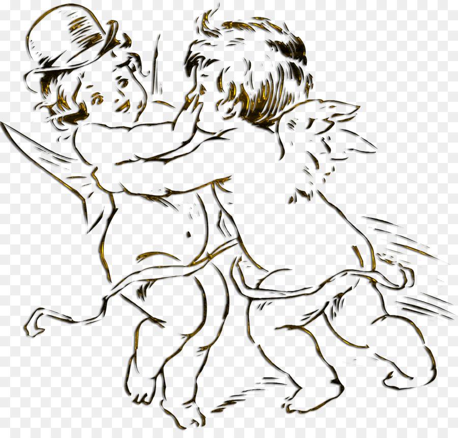 Libro para colorear, Dibujo de Niño Adulto - cupido png dibujo ...