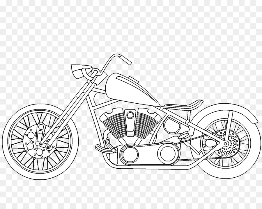 Chopper Motorcycle Coloring book Harley-Davidson Car - motorcicle ...
