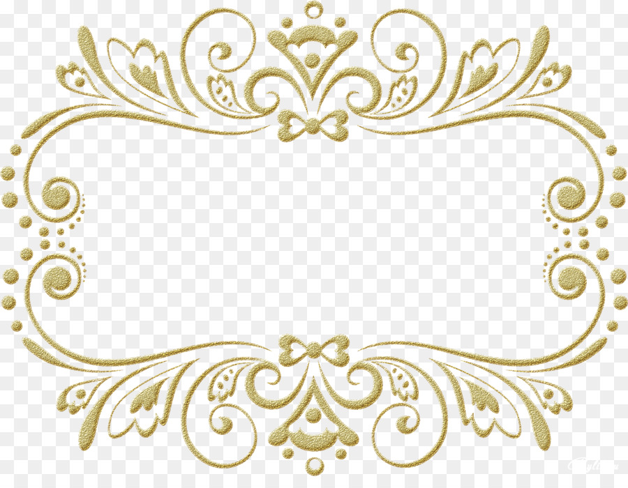 Picture Frames Mirror Wedding Ornament - gold frame png download ...