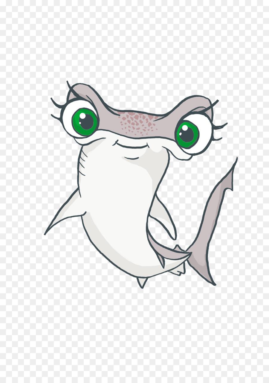 how to draw a cartoon hammerhead shark
