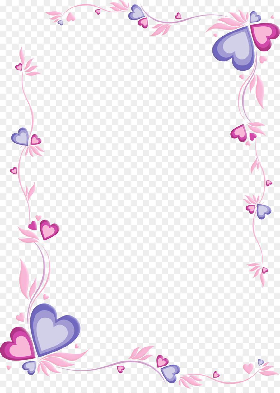 paper letter papel de carta printing purple frame png download