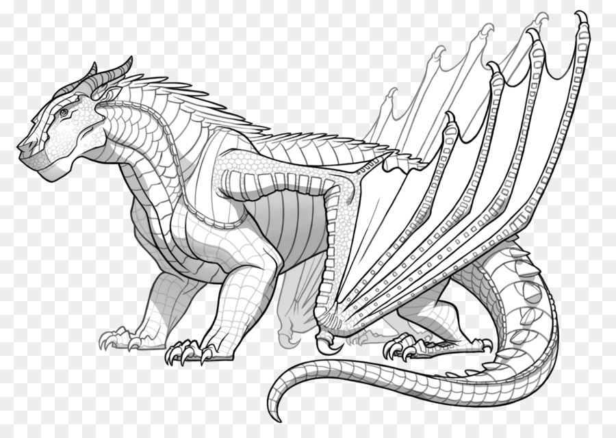 Coloring Book Dragon Wings Of Fire Fire Breathing Dragon Png