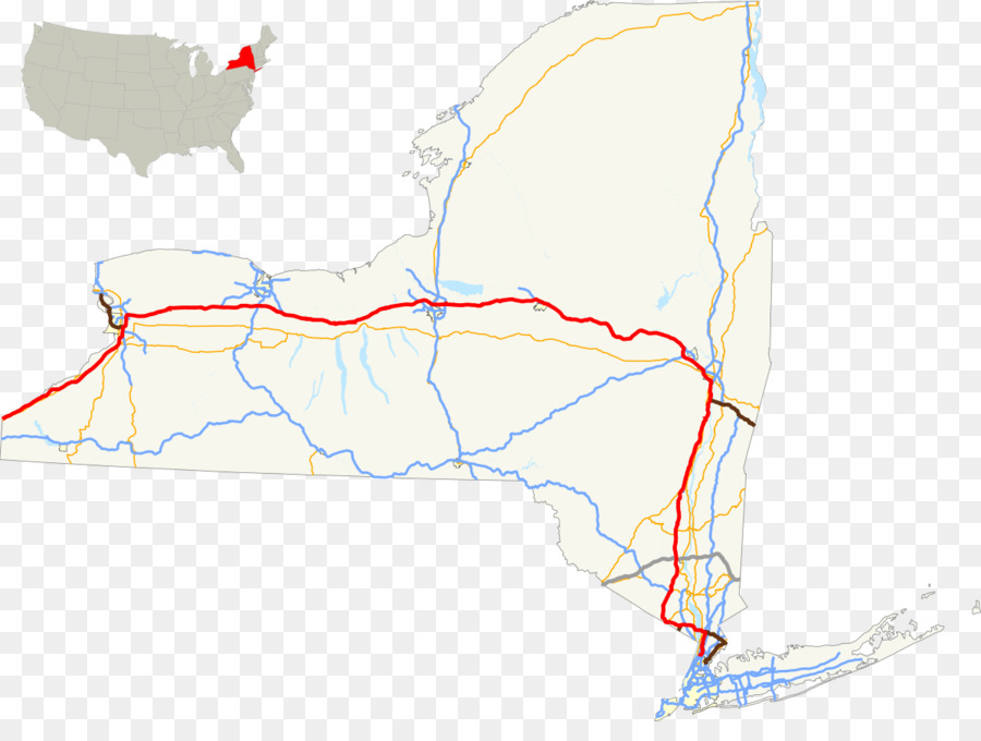 new york city new york state thruway toll road interstate 90 us interstate highway system road map