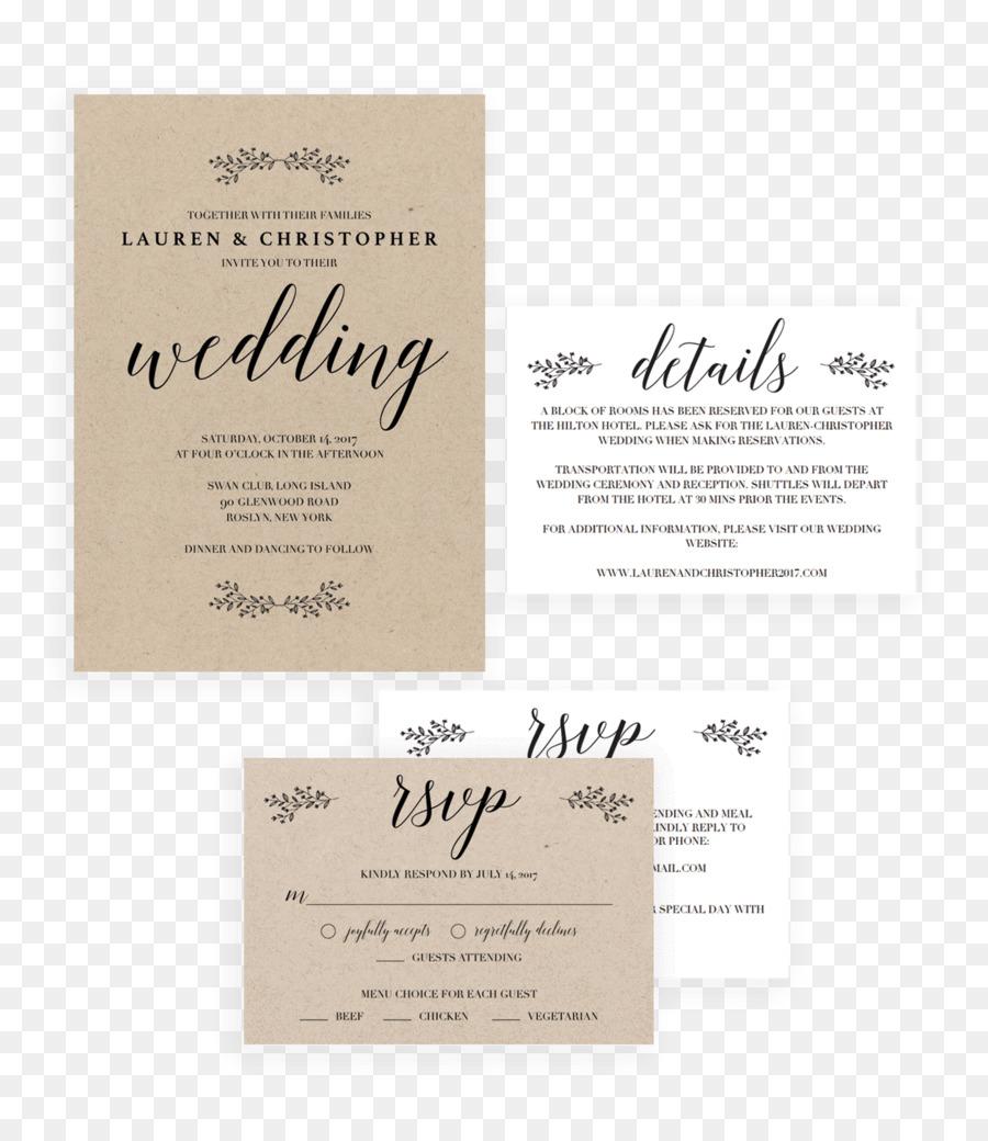 Wedding invitation Convite Stationery Romance Film - Wedding ...