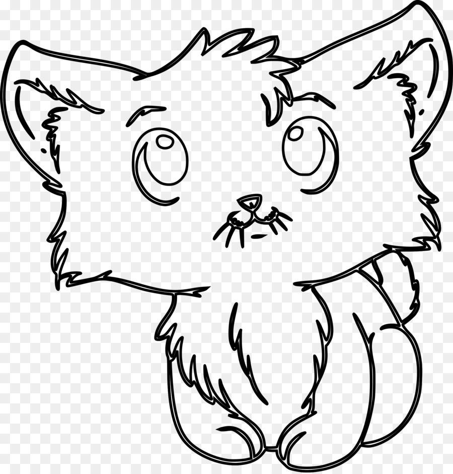 Kitten Cat Puppy Coloring book Cuteness - kitten png download - 2305 ...