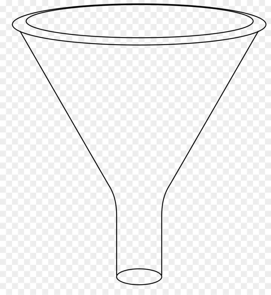 black and white line art funnel clip art kitchen tools - Kitchen Funnel