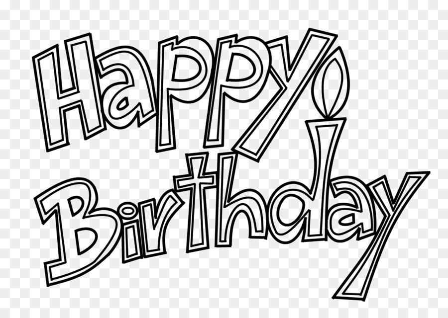 Libro para colorear de tarta de Cumpleaños de Dibujo de Felicitación ...