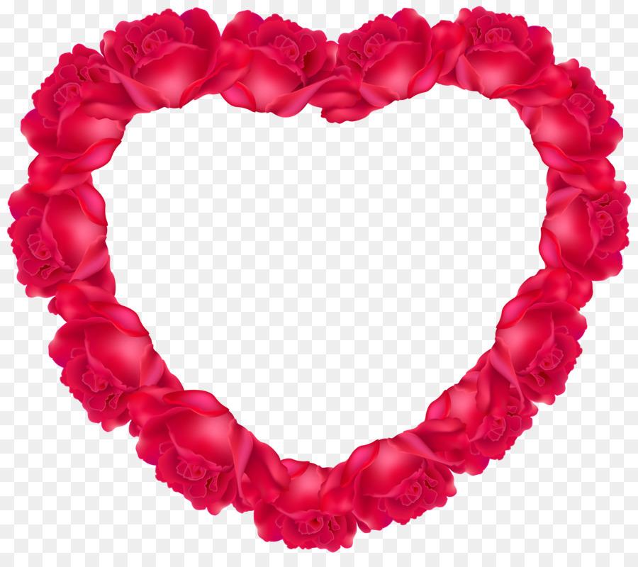 Heart Rose Clip Art Coeur Png Download 5000 4379 Free
